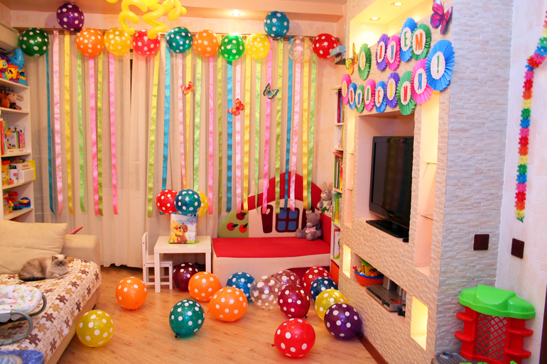Как оформить квартиру для дня рождения ребенка