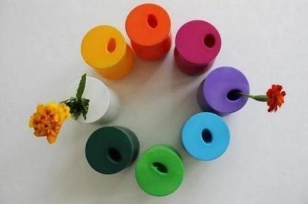 вазы для цветов из банок и шариков