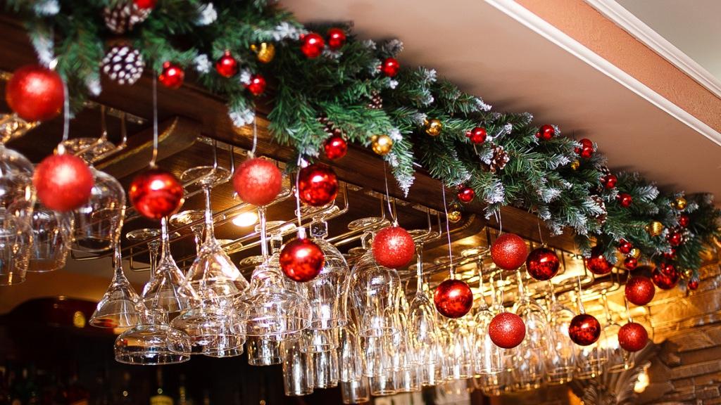 новогоднее оформление ресторанов фото экране