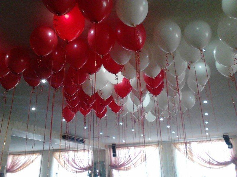 шары с гелием под потолок
